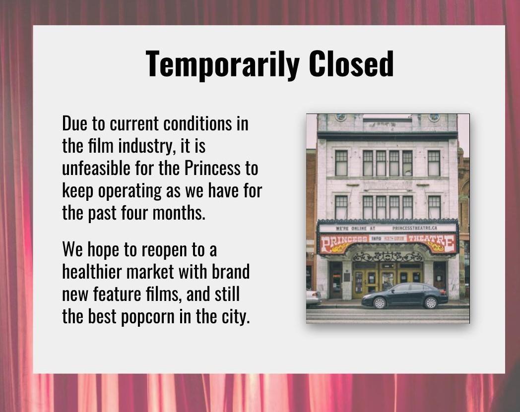 Princess Theatre Edmonton | Art-House Cinema